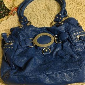 Black Rivet Brand Blue Hobo
